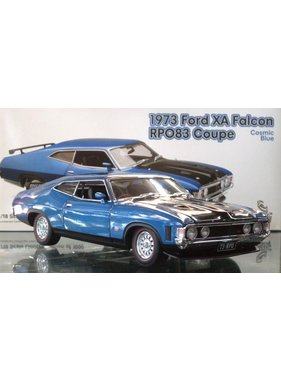 CLASSIC CARLECTABLES CLASSIC CARLECTABLE 1/18 1973 FORD XA FALCON SEDAN RPO83 COUPE COSMIC BLUE ONLY 1000 PCE MADE  MISSING CERTIFICATE DIECAST MODEL WAS $240.00