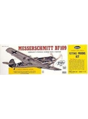 "GUILLOWS GUILLOWS MESSERSCHMITT BF-109  24 3/8"" WING SPAN - SCALE FLYING MODEL KIT  401LC"
