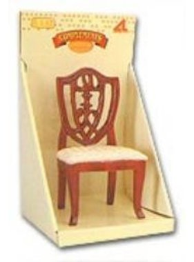 ARTESANIA ARTESANIA MAHAGONY WHITE SATIN CHAIR 1/12