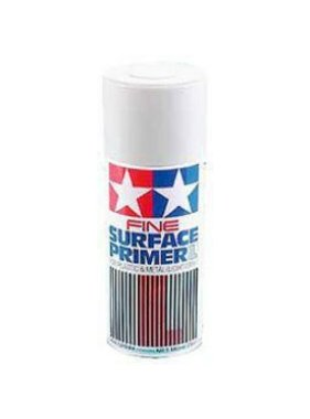 TAMIYA TAMIYA SPRAY FINE SURFACE PRIMER WHITE FOR PLASTIC AND METAL  180ML  87044