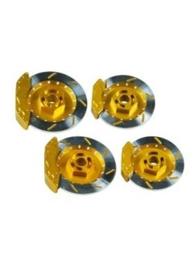 3 RACING 3 RACING GOLD REALISTIC BRAKE DISK SET FOR M CHASSIS