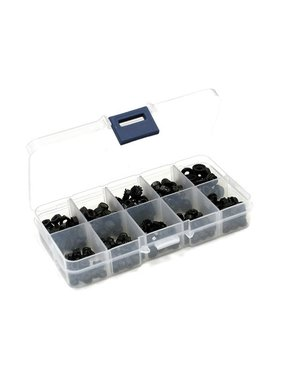 INTEGY ACE ASSORTED 3mm AND 4mm STD, NYLOCK, DOME, FLANGED NUTS 270 PCS