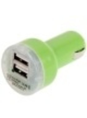 APPLE APPLE 12V CAR CHARGER 2 PORTS GREEN