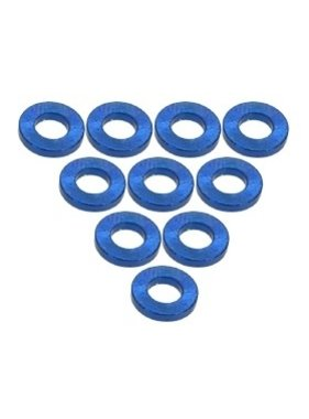 3 RACING 3 RACING FLAT ALUMINIUM 3X1.0MM WASHER BLUE