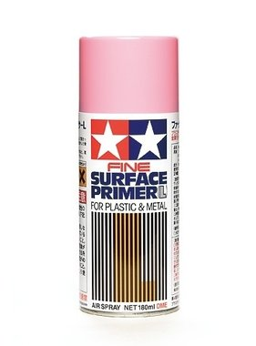 TAMIYA TAMIYA PINK FINE SURFACE PRIMER FOR PLASTIC AND METAL. USE AS UNDERCOAT FOR RED PAINT