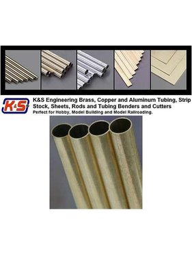 "K&S K & S LARGE ALUMINIUM TUBE  3/16 + 7/32 + 1/4 X 12"" 3 PCS 3 SIZES"