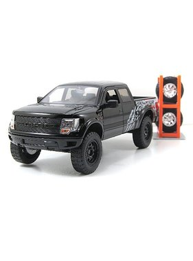 JADA JADA 1/24 2011 FORD RAPTOR F-150 SVT DIECAST WITH EXTRA WHEELS DIECAST