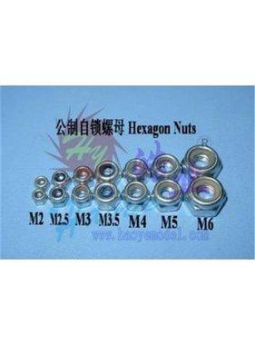 HY MODEL ACCESSORIES HY METRIC NYLOCK NUT 5mm ( 100 PK )<br />( OLD CODE HY171002D )