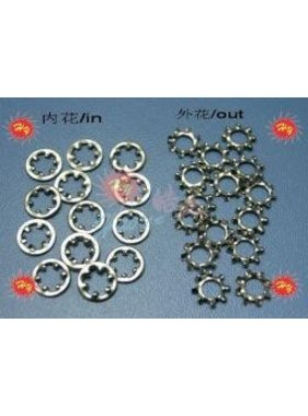 HY MODEL ACCESSORIES HY STAR WASHERS 4MM (100PK)<br />