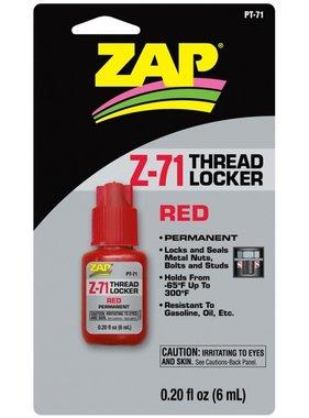 ZAP ZAP Z-71THREAD LOCKER RED PERMANENT 6mL