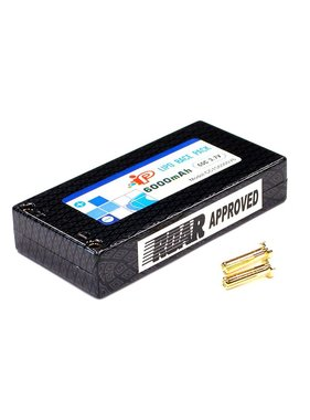 INTEGY IP LIPO HARD CASE 7.4V 60 C 6000 MAH ( SADDLE PACK SET 2 X 3.7V )  FITTED WITH DEENS STYLE CONNECTOR  ROAR APPROVED