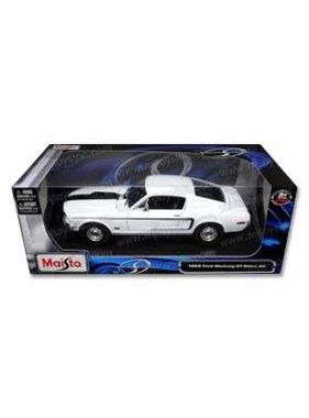MAISTO MAISTO 1;18 1968 FORD MUSTANG GT COBRA JET DIECAST  IN DISPLAY CASE  WAS $ 60.00