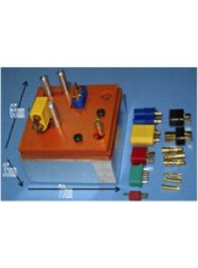 HY MODEL ACCESSORIES Alu Soldering Mount for RC connectors/Clamp 70×65×35mm  use for soldering:T plug/XT60/MPX connector/EC Plug/T/XT60/MPX/EC3+5/TRX