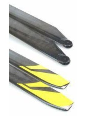 ROTORTECH ROTORTECH 610mm CARBON BLADES 50 SIZE YELLOW RED & BLACK