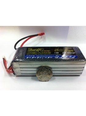 LION POWER - TIGER POWER LIPOS TIGER POWER LIPO 45C 18.5v 5400mah 49x42x143mm  659gr FITTED WITH XT60 PLUG