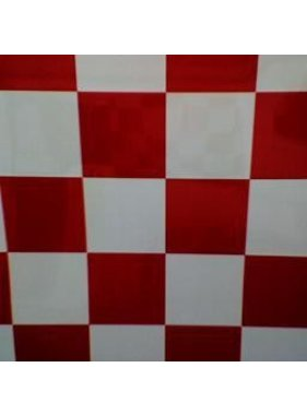 HY MODEL ACCESSORIES HY COVERING CHECKERS  BRIGHT RED &amp; WHITE  638MM 2MT ( 50mm squares )<br />