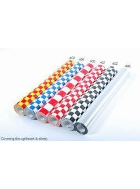 HY MODEL ACCESSORIES HY COVERING CHECKERS RED &amp; WHITE  638MM  2MT ( 30mm squares )<br />