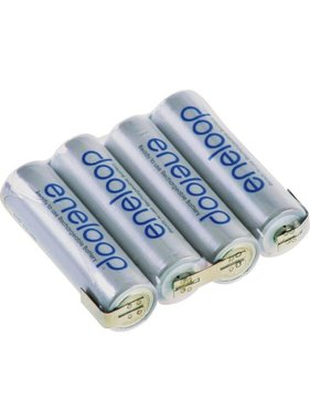 PANASONIC ENELOOP 4.8V 1900MAH NIMH AA BATTERY PACK FLAT OR SQUARE WITH JR LEAD