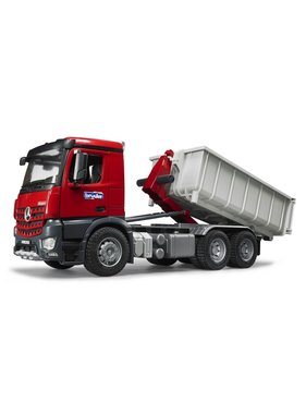 BRUDER BRUDER 1:16 MERCEDES BENZ ACTROS TRUCK WITH ROLL OFF CONTAINER