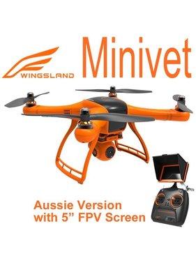 "WINGSLAND WINGSLAND MINIVET FPV QUAD W/ GPS CONTROL, 5"" LCD SCREEN & 3 AXIS GIMBAL"