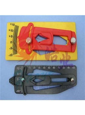 HY MODEL ACCESSORIES HY MAIN BLADE PITCH GAUGE YELLOW  L150 X W68MM<br />