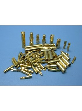 HY MODEL ACCESSORIES HY GOLD CONTACTS 5mm MALE ONLY (10PK)<br />( OLD CODE HY211405 )