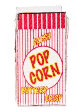 ACE DOLLS HOUSE FARROW IND POPCORN BOX EMPTY OPEN RED & WHITE BAG  FA40078