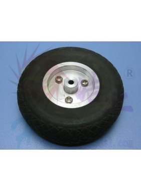 "HY MODEL ACCESSORIES HY SCALE AIR RUBBER WHEEL ALUM RIM 5"" 127MM"