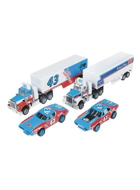 AUTO WORLD Auto World Racing Rigs Petty 2 Pk Trck/Trlr Rel 9  ( PACK INCLUDES 1 CAR & 1 TRACTOR TRUCK )  CHOICE OF DODGE CHARGER OR PLYMOUTH  VERSION OF RACE CAR