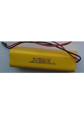 CHENNER BATTERIES ACE PREMIUM NICD 9.6V 1000mah AA TX BATTERY PACK WITH BLACK JR PLUG