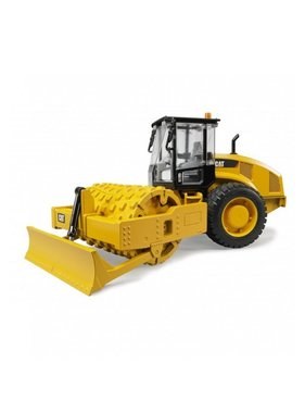 BRUDER Bruder Cat Caterpillar Vibratory Soil Compactor with Levelling Blade Scale 1:16