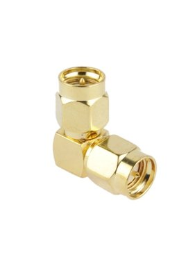 CHINA ELECTRONICS Gold Plated SMA Male to SMA Male Adapter with 90 Degree