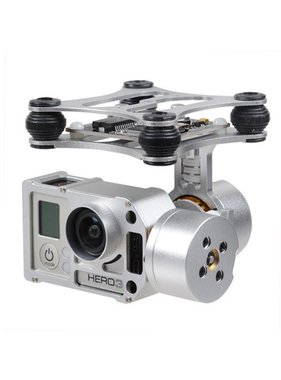 CHINA ELECTRONICS Brushless Gimbal Aluminum Camera Mount with Motor & Controller for GoPro Hero 3 FPV Aerial Photography GUI DOWNLOAD: http://www.basecamelectronics.com/files/v10/SimpleBGC_GUI_2_2b2.zip