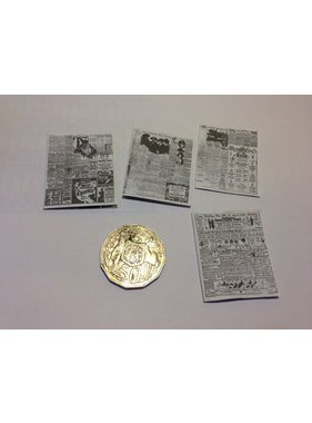 ACE DOLLS HOUSE ACE 1/12 DOLLS HOUSE ACC ASSORTED NEWSPAPERS