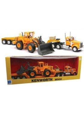 NewRay NEWRAY YELLOW KENWORTH W900 & F/W BULLDOZER