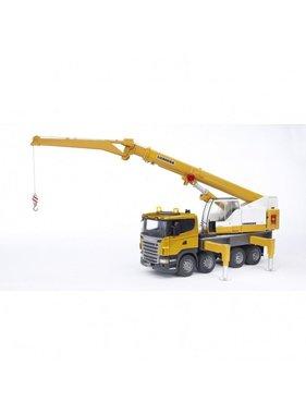 BRUDER Bruder SCANIA R-series Liebherr crane Truck with Light and Sound Module- Scale 1:16
