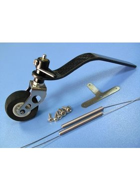 HY MODEL ACCESSORIES HY CARBON FIBRE TAIL WHEEL SET 50CC LENGTH 138mm ( 1PK )<br />( OLD CODE  HY253102 )