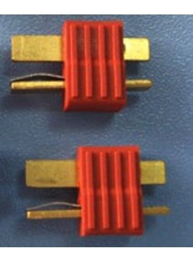 HY MODEL ACCESSORIES HY T PLUG WITH FULL GRIP U/GOLD PLUG MALE ( 8pk  )<br />(OLD CODE HY210509M )