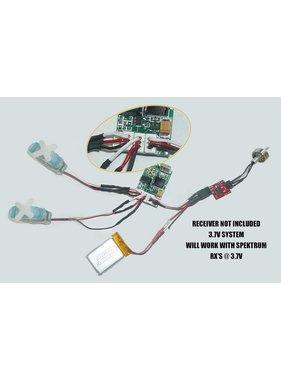ACE RADIO CONTROLLED MODELS MPN 2 GRAM BRUSHLESS MOTOR LOW VOLTAGE SERVO &amp; LIPO PACKAGE<br />INCLUDES:<br />2 X 3.7V 220 MAH LIPO BATTERY <br />1 X D1000 7700KV 2gr brushless motor<br />1 x  DP-3a SPEED CONTROLLER 1S/3A/700mah <br />2 x LS-2.5gr SERVOS 3.7V 0.20gr trq<br /><br />Please note  this set is only for use
