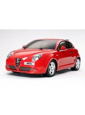 TAMIYA TAMIYA 1/10 R/C KIT M-05 ALFA ROMEO MiTo REQUIRES PACKAGE DEAL 1 FOR ELECTRIC CARS INCLUDES SANWA 2CH TX WITH 1 SERVO ELECTRONIC SPEED CONTROLLER  AND RX, 1600MAH LRP BATTERY, 12V FAST CHARGE LEAD AND TAMIYA SPRAY PAINT