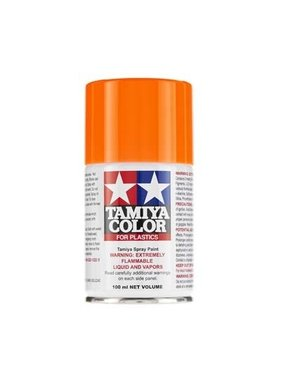 TAMIYA Tamiya Spray Lacquer TS-96 Fluorescent Orange ( Repsol orange ) must be backed with ts-26 pure white
