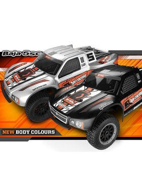 HPI HPI BAJA 5SC SHORT COURSE TRUCK 1/5 SCALE SILVER  NOW INCLUDES 240V RX BATTERY CHARGER