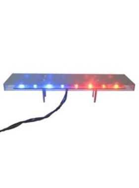 ACE RADIO CONTROLLED MODELS ACE SCALE POLICE LIGHT BAR RED/BLUE FRONT YELLOW REAR 9 FLASH PATTERNS 12 VOLT