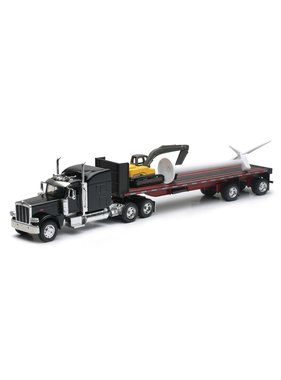 NewRay NEWRAY PETERBILT 389 WITH WIND TURBINE AND EXCAVATOR 1/32