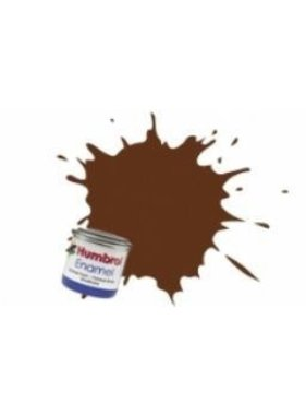 HUMBROL HUMBROL ENAMEL 14ML MATT GERMAN CAMOUFLAGE RED BROWN  # 160