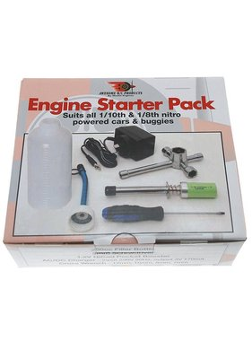 AWESOME R/C AWESOME R/C ENGINE STARTER PACK FILLER BOTTLE, SCREWDRIVER WRENCH, CHARGER AND GLOW STARTER.  ARC0001