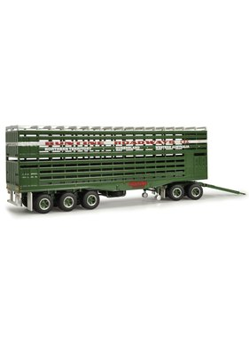 HIGHWAY REPLICAS 1:64 LIVESTOCK DOLLY & TRAILER GREEN & WHITE STRIPE BUNTINE ROADWAYS
