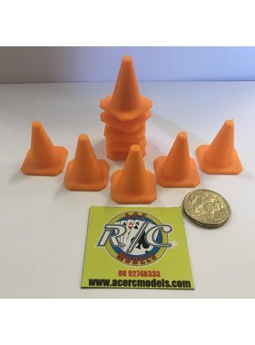 ACE 3D PRINT WORKS ACE 3D PRINT 1:14  TRAFFIC CONES ( 10 PACK )  ORANGE ( OTHER COLOURS AVAILABLE ON REQUEST ) <br /> THIICK WALL &amp; BASE HEAVY DUTY VERSION