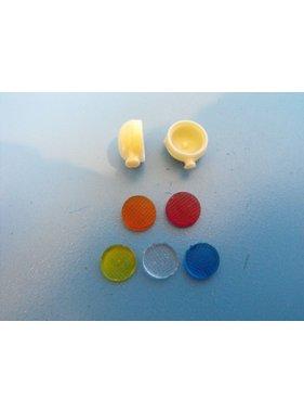 AUSLOWE AUSLOWE AUSLOWE BULL LIGHTS CLEAR LENSES 8MM DIAMETER PAIR 1/25-1/24 WHITE METAL
