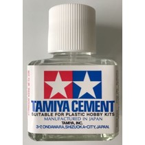 TAMIYA CEMENT BRUSH ON 40ML BOTTLE NON FLAMMABLE ORGANIC